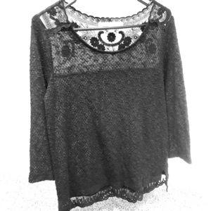 Lauren Conrad crochet blouse